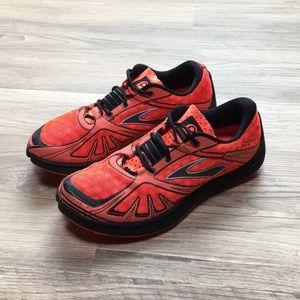 Brooks Pure Grit running shoes, orange, sz 8
